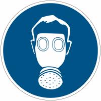 """Mini-Pictogramme d'informations individuels en feuilles """"Protection des voies respiratoires obligatoire"""""""