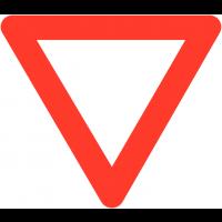 """Panneaux de circulation routière """"Cédez le passage"""""""