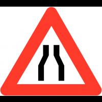 """Panneaux de circulation """"Chaussée rétrécie"""""""