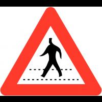 """Panneaux de circulation """"Passage pour piéton"""""""