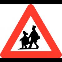 """Panneaux de circulation """"Endroit fréquenté par les enfants"""""""
