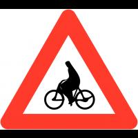 """Panneaux de circulation """"Débouché de cyclistes"""""""