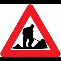 """Panneaux de circulation """"Travaux"""""""