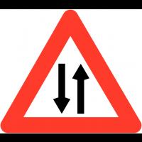 """Panneaux de circulation """"Circulation dans les deux sens"""""""