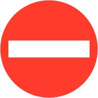 """Panneaux de circulation """"Sens interdit"""""""