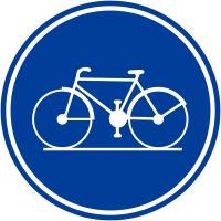 """Panneaux de circulation """"Piste cyclable obligatoire"""""""