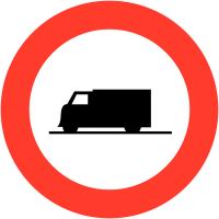 """Panneaux de circulation """"Accès interdit aux poids lourds"""""""