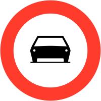 """Panneaux de circulation """"Interdit aux voitures"""""""