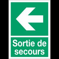 """Panneaux d'évacuation A4 et A3 """"Flèche à gauche"""""""