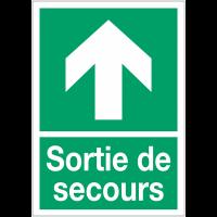 """Panneaux d'évacuation A4 """"Flèche à gauche"""""""