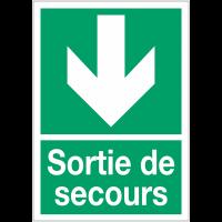 """Panneaux d'évacuation A4 """"Flèche en bas"""""""