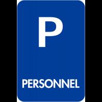 """Panneaux de signalisation """"Places de parking - Personnel"""""""