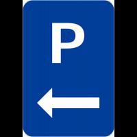 """Panneaux de signalisation """"Parking flèche à gauche"""""""
