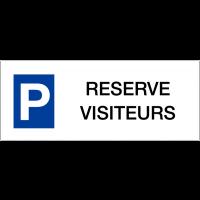 """Panneaux de parking en aluminium """"Réservé visiteurs"""""""