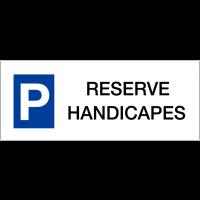 """Panneaux de parking en aluminium """"Réservé handicapés"""""""