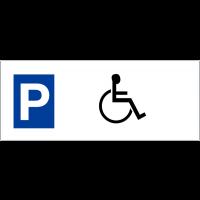 """Panneaux de parking en aluminium """"parking handicapés"""""""