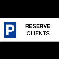 """Panneau de parking en aluminium """"Places de parking - Réservé clients"""""""