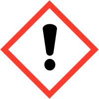 """Etiquettes de produits dangereux sur carte """"Danger pour sensibilisation cutanée, inhalation, corrosion ou irritation des yeux"""""""