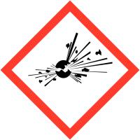 """Etiquettes de produits dangereux en rouleaux """"Matières explosives"""""""