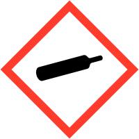 """Etiquettes de produits dangereux en rouleaux """"Matières gazeuses sous pression"""""""