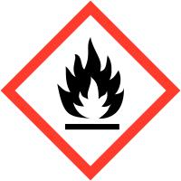 """Etiquettes de produits dangereux sur carte """"Matières solides inflammables"""""""