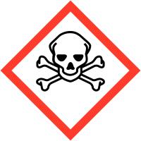 """Etiquettes de produits dangereux en rouleaux """"Matières toxiques"""""""