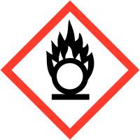 Pictogrammes CLP en papier Matières comburantes GHS03
