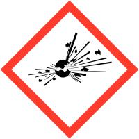"""Panneaux de produits dangereux """"Matières explosives"""""""