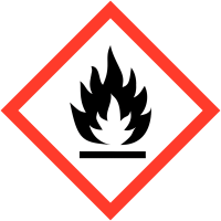 Pictogrammes CLP en papier Matières inflammables GHS02