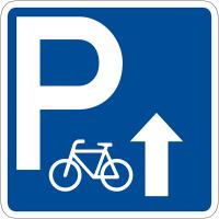 """Panneau de signalisation """"Parking vélos flèche en haut"""" rétro-réfléchissant"""