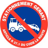"""Panneaux de circulation """"Mise en fourrière stationnement interdit - Stationnement gênant"""""""