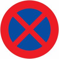 """Panneaux de circulation routière """"Arrêt et stationnement interdits"""""""
