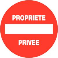"""Panneaux de circulation """"Sens interdit - Propriété privée"""""""