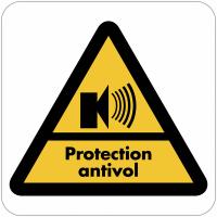 """Autocollant dissuasif en vinyle """"Bâtiment sous alarme - Protection antivol"""""""