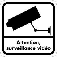 Autocollant dissuasif en vinyle - Attention surveillance vidéo