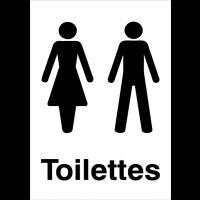 """Panneaux d'information du public """"Toilettes homme et femme"""""""