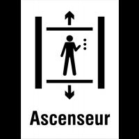 """Panneaux d'information du public """"Ascenseur"""""""