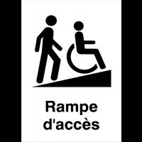 """Panneaux d'information du public """"Rampe d'accessibilité handicapés"""""""