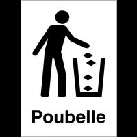 """Panneaux d'information du public """"Jeter les déchets à la poubelle"""""""