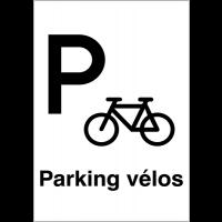 """Panneaux d'information du public """"Parking vélos"""""""