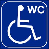 """Plaques signalétiques en relief tactile """"Toilettes handicapés"""""""