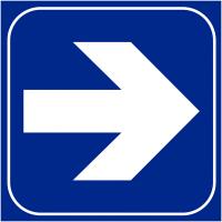 """Plaques signalétiques en relief tactile """"Flèche à droite"""""""