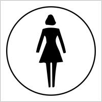 """Plaques signalétiques en relief tactile """"Toilettes femmes"""""""