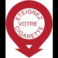 Panneaux ronds fléchés - Eteignez votre cigarette