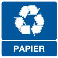 """Panneaux """"Tri sélectif des déchets - Papier"""""""
