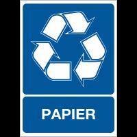 """Autocollant pour """"Tri sélectif des déchets - Papier"""""""