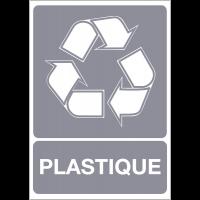 """Panneau A4 en polyester laminé """"Tri sélectif des déchets - Plastique"""""""