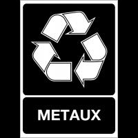"""Panneau A4 en polyester laminé """"Tri sélectif des déchets - Métaux"""""""