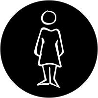 """Plaques signalétiques design """"Toilettes femme"""""""