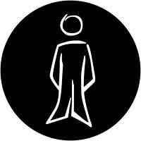 """Plaques signalétiques design """"Toilettes homme"""""""